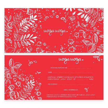 GIFT COUPON   Gift coupon   Natural cosmetics   Uoga Uoga